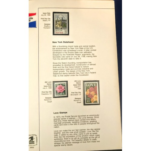 1988-1989 Commemorative Stamp Club USPS Mint Year Collection Album