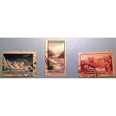 PR China Stamp 1956 S14 Xikang-Tibet and Qinghai-Tibet Highways used set + 4CTO