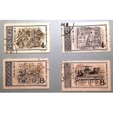 PR China Stamp 1956 S16 Painting on Bricks of East Han Dynasty 2 sets + 4 CTO, O