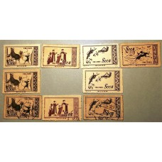 PR China Stamps 1952 S3 Great Motherland (1st Set): Dunhuang Murals set 6M+3used